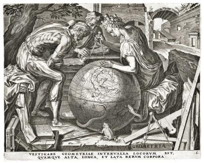 Cornelis Cort 1565 Geometry
