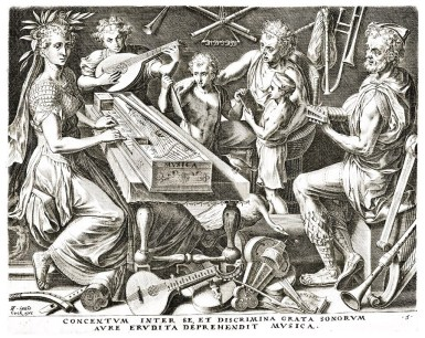 Cornelis Cort 1565 Music